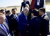 Miloš Zeman po přistání v Číně