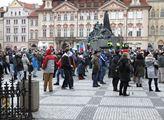 Demonstrace proti vládním opatřením na Staroměstsk...