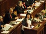 Miroslava Němcová řeční ve sněmovně