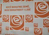 Slogan ČSSD se na tiskovku hodil