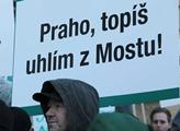 Demonstrace hornických odborů před ministerstvem p...