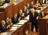 Prezident Miloš Zeman pronesl ve sněmovně projev p...