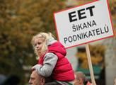 Protestní akce proti zavedení elektronické evidenc...