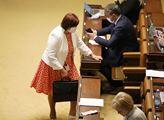 První schůze sněmovny po uvolnění mimořádných opat...