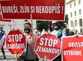 První demonstrace proti Zemanovi a Babišovi po kor...