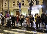 Podvečerní Praha o svátku 17.listopadu