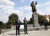 Odhalení zrestaurovaného pomníku maršála Koněva s ...