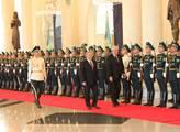 Přijetí Miloše Zemana v Kazachstánu