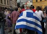 Shromáždění na podporu Řecka na pražském Jungmanno...