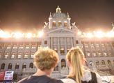 Světelná show na nově zrekonstruované budově Národ...