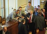 Poprvé byla přítomna na zasedání sněmovny Rusnokov...
