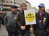 Na Václavském náměstí v Praze se sešli sympatizant...