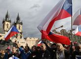Na pražské Staroměstské náměstí přišli v neděli pr...