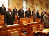 Na začátku schůze Senátu uctili senátoři minutou t...
