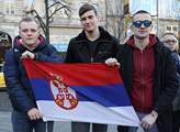 Protestní akce proti odtržení Kosova od Srbska spo...
