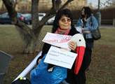 Shromáždění k mediální svobodě a k petici, které v...
