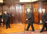Přichází Miloš Zeman s Jiřím Rusnokem