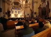 V kostele sv. Markéty v areálu Břevnovského klášte...