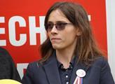 Hana Lipovská na kampani ve Slušovicích
