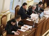 Předseda sněmovny Radek Vondráček se svými místopř...