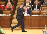 Jednání sněmovny. Před schválením programu se rozh...