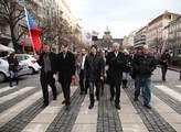 Celoevropský protest proti válkám spojený s pochod...