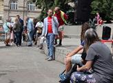 Demonstrace na podporu dodržování občanských svobo...