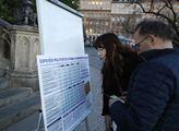 Spolek Pulse of Europe při pouliční prezentaci zve...