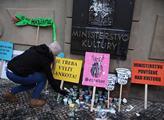 Demonstrace proti ministryni kultury Hanákové a šk...