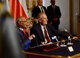 Indický prezident Rám Náth Kóvind na návštěvě ČR
