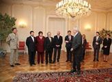 Prezident Miloš Zeman přijal drobné přispěvatele d...