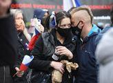 Protest proti anticovidovým opatřením vlády o výro...