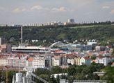 Pohled na Trojský most z vrchu Vítkova