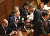Zasedání sněmovny. Na programu byla novela zákona ...