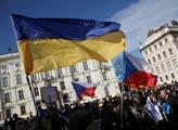 Protest na podporu Ukrajiny