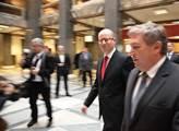 Premiér Bohuslav Sobotka na ministerstvu dopravy