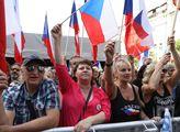 Demonstrace proti diktátu EU pořádaná SPD s účastí...