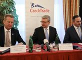Tisková konference CzechTrade, kde ministr průmysl...