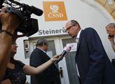 Zasedání předsednictva ČSSD poté, co prezident Mil...