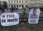 Demonstrace před slovenským velvyslanectvím v Praz...