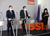 Tisková konference ČSSD. Jan Hamáček sdělil, že v ...