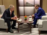 Prezident Miloš Zeman a předseda vlády Ruské feder...
