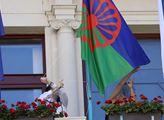 Vyvěšení romské vlajky