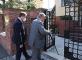 Karel Schwarzenberg a  ukrajinský velvyslanec Jevh...
