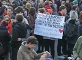 Protest proti násilí a fašismu jako reakce na vand...