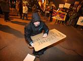 Demonstrace ke Dni lidských práv a proti zahraničn...