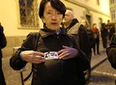 Protestní akce proti volbě nominanta hnutí ANO Pet...