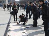 Protestní stávka studentů zorganizovaná za účelem ...
