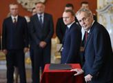Prezident Miloš Zeman jmenoval nové ministry dopra...