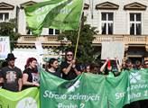 Kontrademonstrace proti islámu a uprchlíkům na Vác...